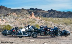 BMW K1600B vs Indian Chieftain Dark Horse vs Kawasaki Vaquero vs Harley-Davidson Street and Road Glides vs Moto Guzzi MGX-21 vs Yamaha Eluder