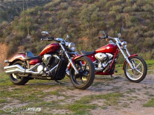 Yamaha Star Stryker vs HD Rocker C